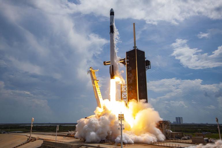 Vue du lancement de la mission Crew Demo 2 de SpaceX et de la Nasa