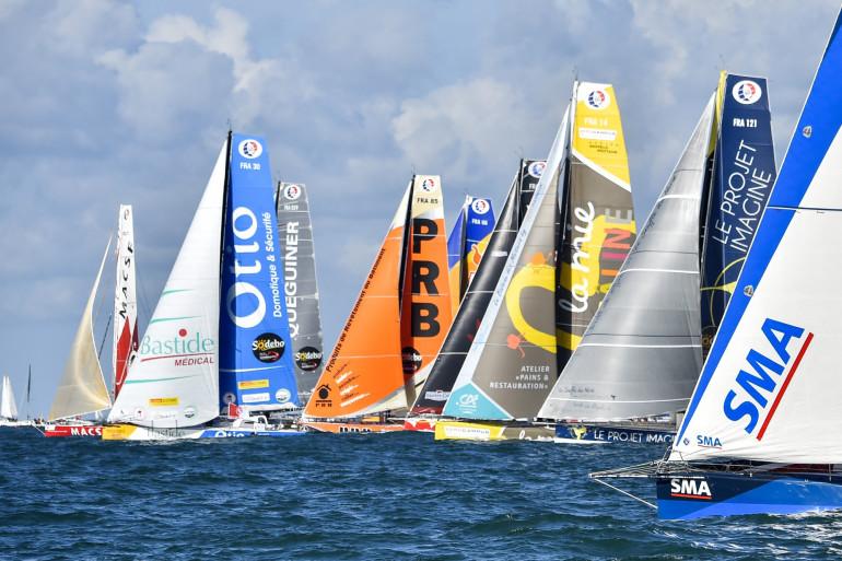 Les bateaux au départ du Vendée Globe