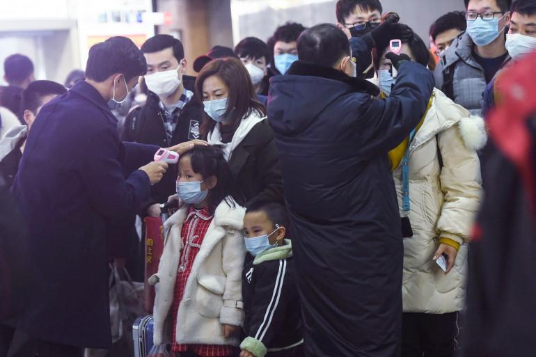 La gare de Wuhan, en Chine, pendant l'épidémie de coronavirus
