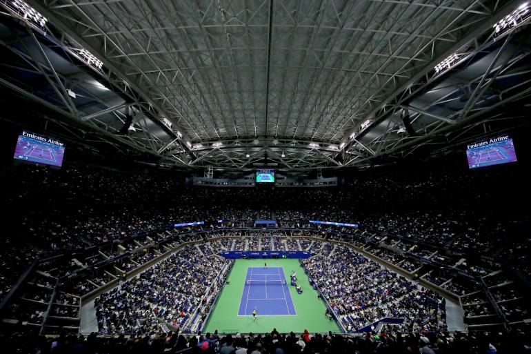 Le court Arthur Ashe, lors de l'US Open, en 2019