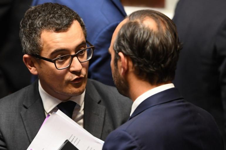 Le ministre du Budget, Gérald Darmanin, et le Premier ministre, Édouard Philippe, le 24 octobre 2017.
