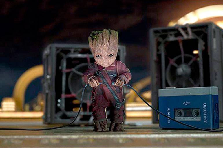 """Baby Groot prêt à lancer sa musique dans """"Les Gardiens de la Galaxie 2"""""""
