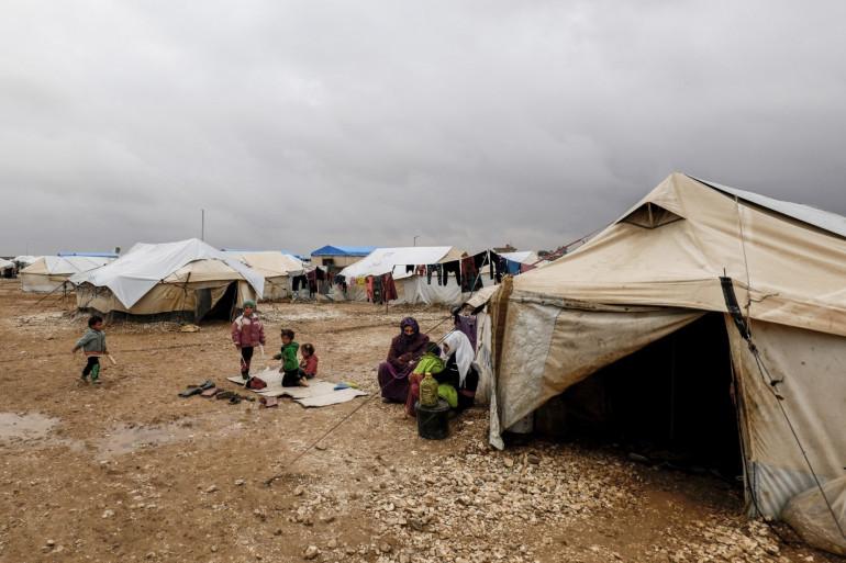 Un camp de réfugiés en Syrie (illustration)