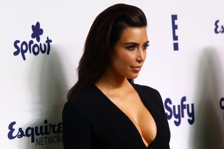 Kim Kardashian, lors d'une soirée aux États-Unis