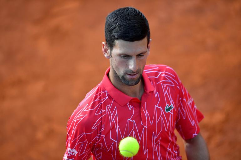 Novak Djokovic à Belgrade le 13 juin 20