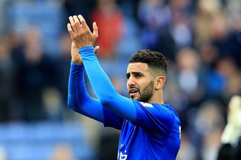 Riyad Mahrez avec les couleurs de Leicester, le 24 avril 2016