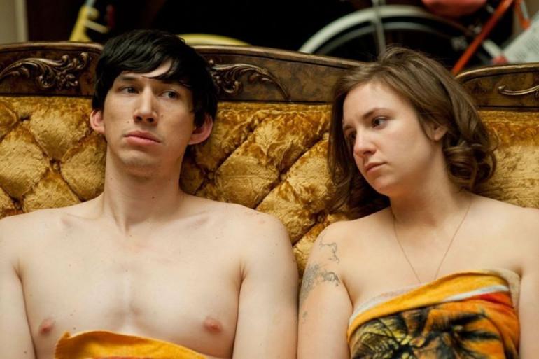 """Lena Dunham et Adam Driver dans """"Girls"""""""