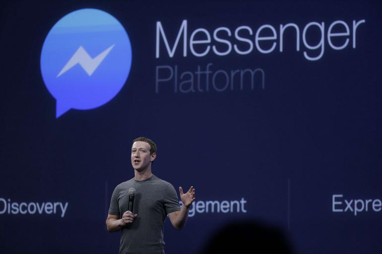 Mark Zuckerberg lors de la conférence Facebook F8 2016