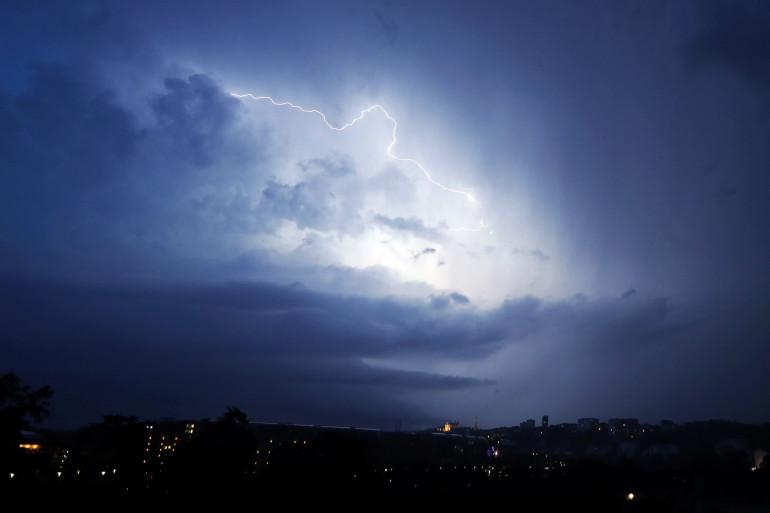 Un orage à Lyon le 24 juin 2016 (illustration)
