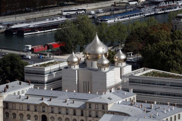 """Une vue aérienne du """"Centre spirituel et culturel orthodoxe"""" à Paris"""