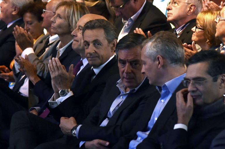 Nicolas Sarkozy, François Fillon et Bruno Le Maire, le 27 septembre 2015