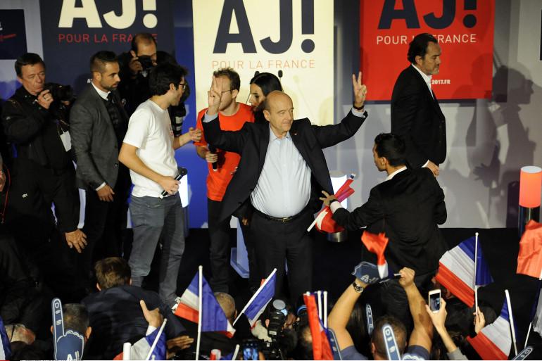 Alain Juppé, le 8 octobre lors de son meeting adressé à la jeunesse, à Malakoff.