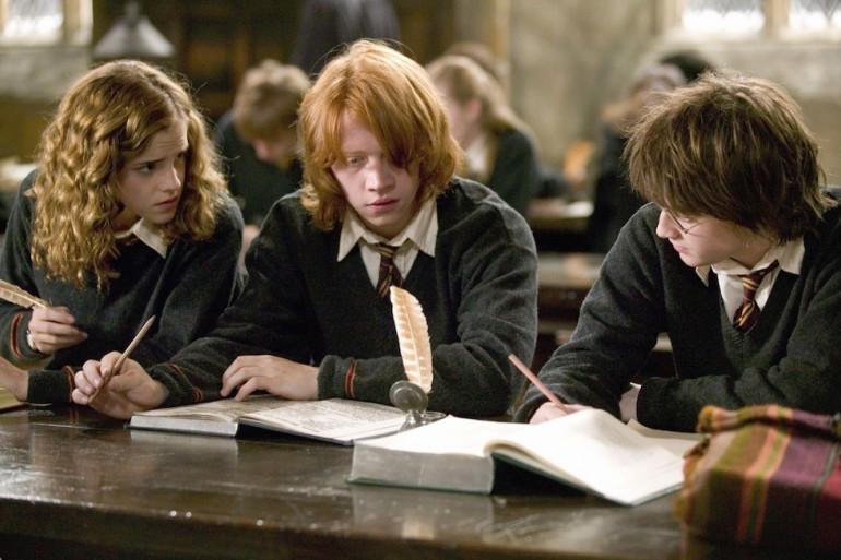 Hermione Granger, Ron Weasley et Harry Potter à Poudlard