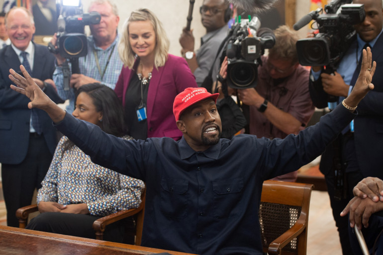 Kanye West à la Maison Blanche, le 11 octobre 2018