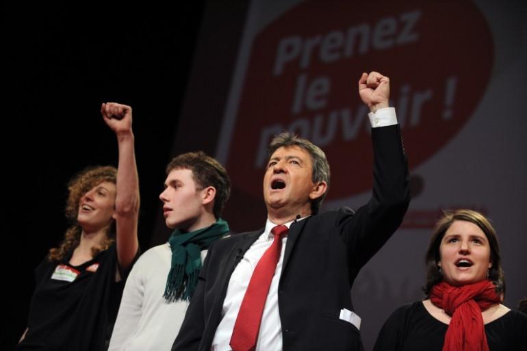 Jean-Luc Mélenchon le 14 janvier 2012 à Nantes