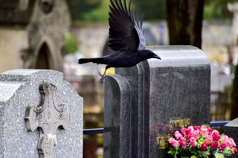 Des tombes dans un cimetière (Illustration).