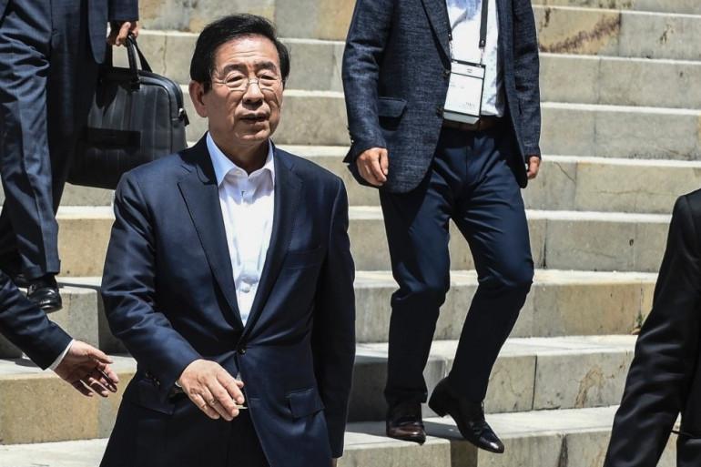 Park Won-soon, maire de Séoul, le 12 juillet 2019