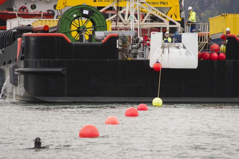 Un câble sous-marin déployé au large de l'Alaska