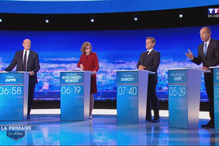 Alain Juppé, Nathalie Kosciusko-Morizet, Nicolas Sarkozy et François Fillon