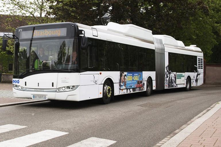 Le bus de la CTS équipé d'un essieu électrique