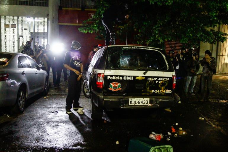 Une voiture de police à Sao Paulo, au Brésil