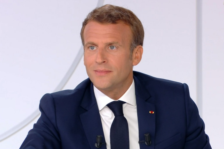 Emmanuel Macron lors de son interview du 14 juillet 2020