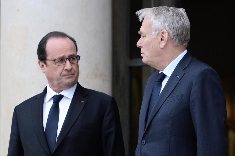 François Hollande et Jean-Marc Ayrault en juin 2016 à l'Élysée.