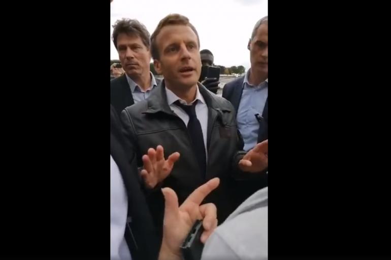 Emmanuel Macron pris à partie par des gilets jaunes le 14 juillet aux Tuilleries