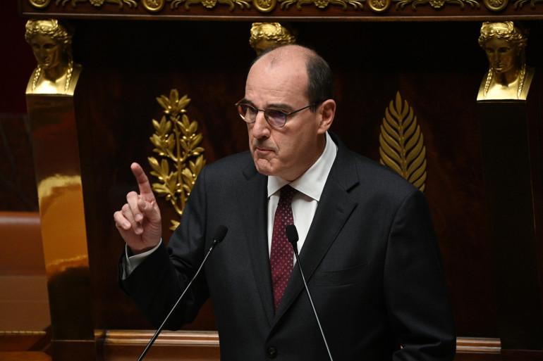 Jean Castex pendant son discours à l'Assemblée Nationale, mercredi 15 juillet 2020.