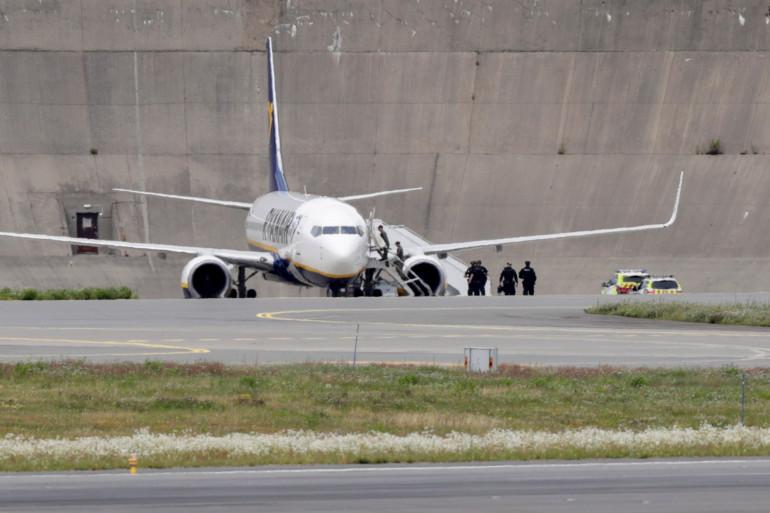 L'avion de Ryanair a atterri à Oslo après une alerte à la bombe, vendredi 17 juillet.