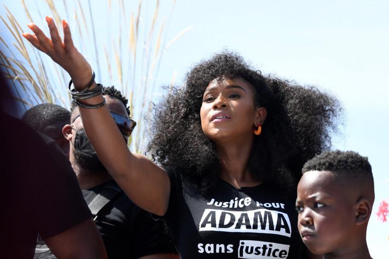 Assa Traoré, la soeur d'Adama Traoré, samedi 17 juillet 2020.
