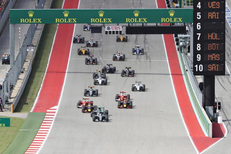 Le Grand Prix des États-Unis à Austin (Texas) le 23 octobre 2016.