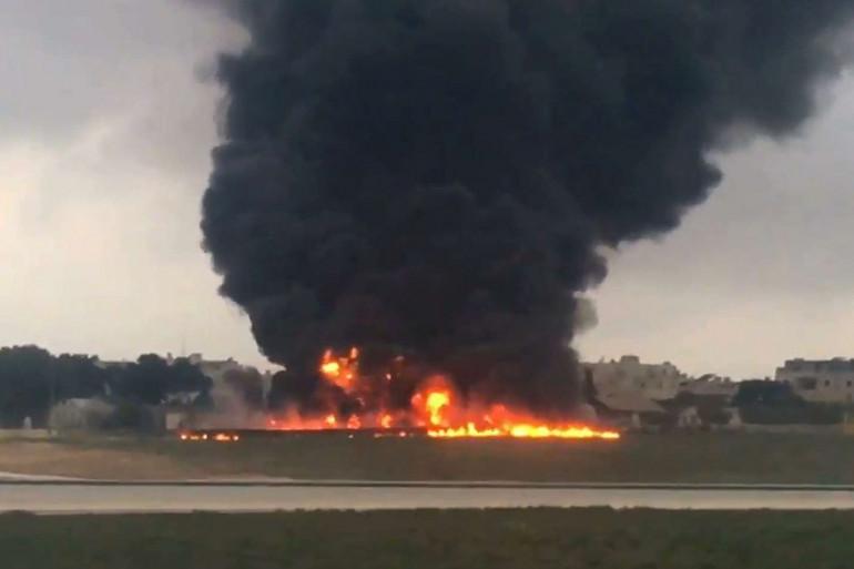 Un avion s'est crashé à Malte, lundi 24 octobre