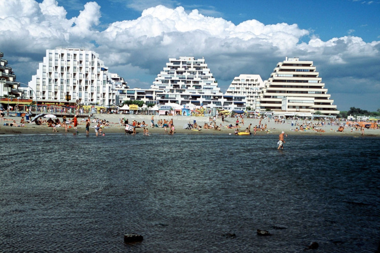 Une plage de la Grande-Motte, dans l'Hérault.