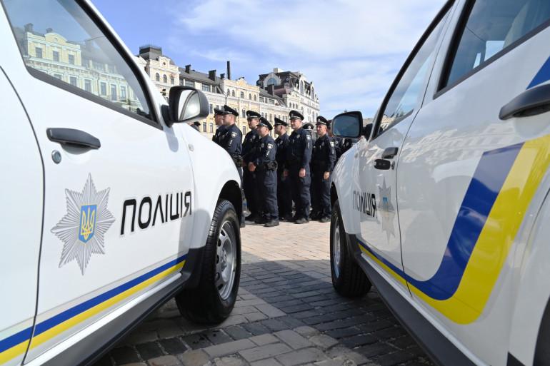 Illustration de policiers ukrainiens