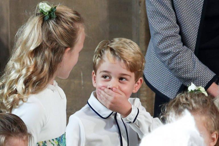 Le prince George lors du mariage de la princesse Eugenie (2018)
