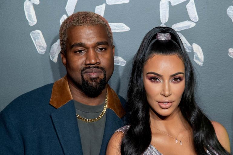 Kanye West et Kim Kardashian, le 2 décembre 2019