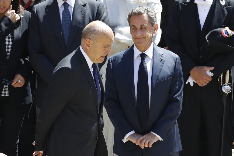 Alain Juppé et Nicolas Sarkozy, à Paris le 7 juillet 2016