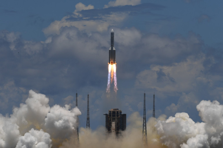 Le décollage de la fusée chinoise, le 23 juillet de la province du Hainan