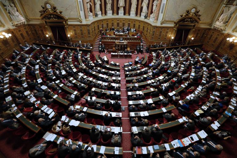 Les sénateurs réunis au palais du Luxembourg, le 28 octobre 2014 (archives)