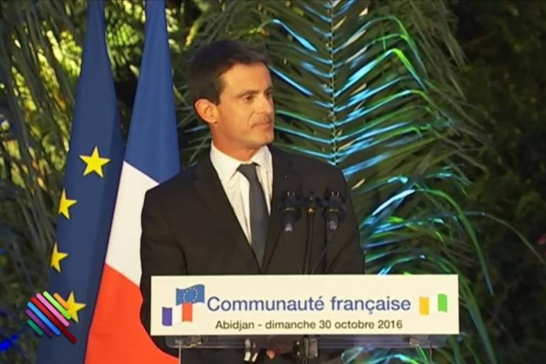 Manuel Valls à Abidjan