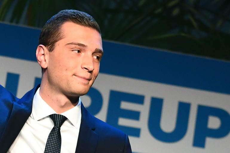 Jordan Bardella, eurodéputé et vice-président du Rassemblement national, le 26 mai 2019.