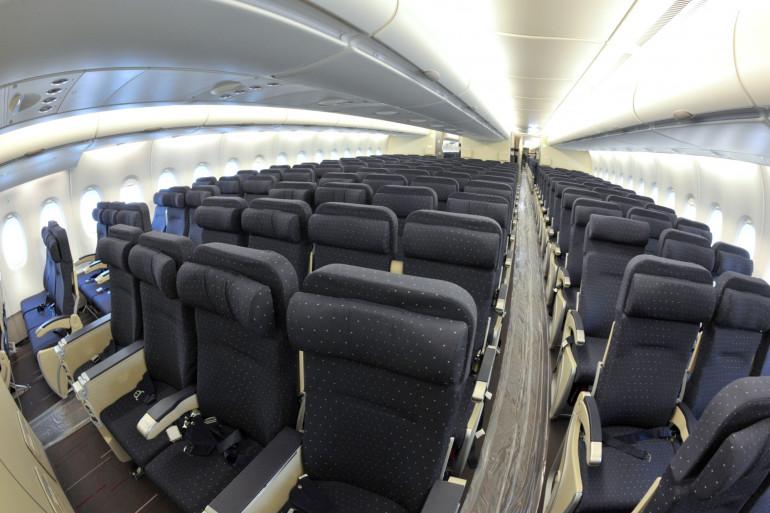 Intérieur d'une cabine d'un avion (illustration)