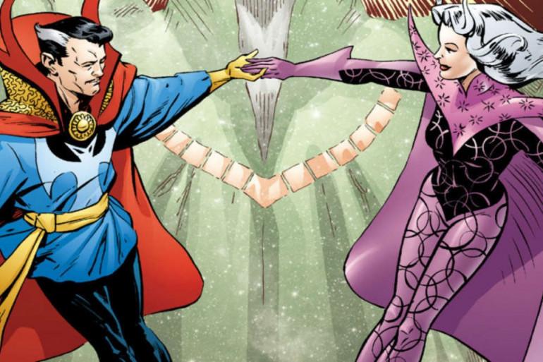 Doctor Strange et Clea, son acolyte dans le comics