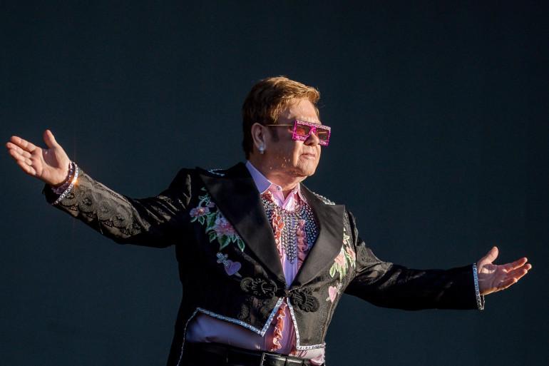 Elton John durant un festival de jazz à Montreux, le 29 Juin 2019