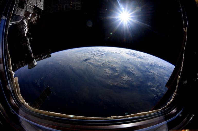 Photo de la Terre prise dans l'espace par l'astronaute Nick Hague, le 2 octobre 2019