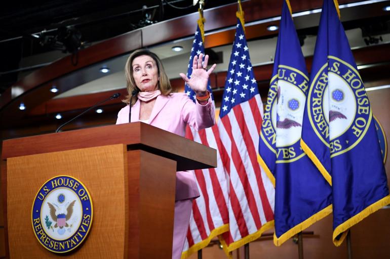La présidente de la Chambre des représentants du Congrès, Nancy Pelosi, le 31 juillet 2020