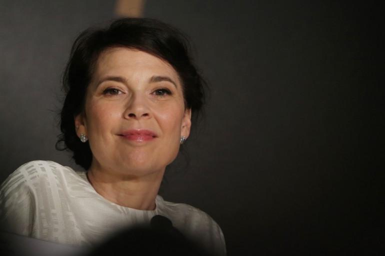 Anne Dorval, en conférence de presse pour Mommy de Xavier Dolan au Festival de Cannes 2014