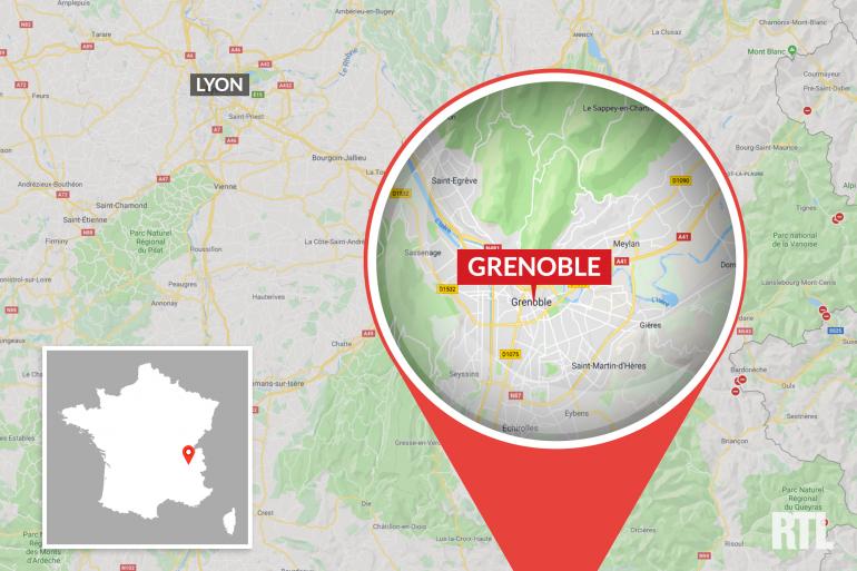 La ville de Grenoble, en Isère