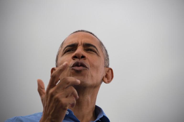 Barack Obama prononce un discours en Floride, le 6 novembre 2016